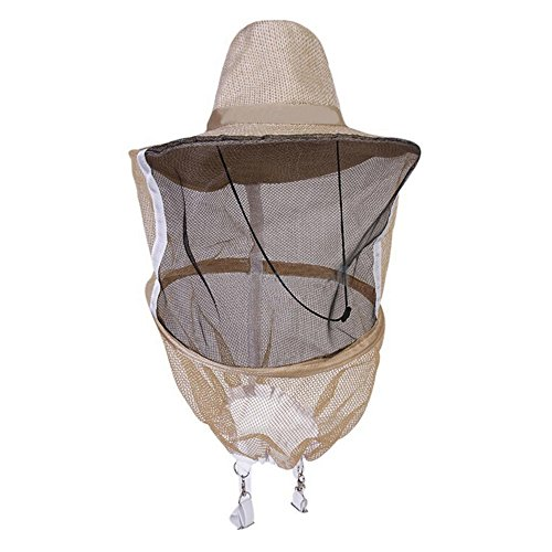 Kocome Beekeeper Beekeeping Veil with Round Cowboy Hat - Anti Mosquito...