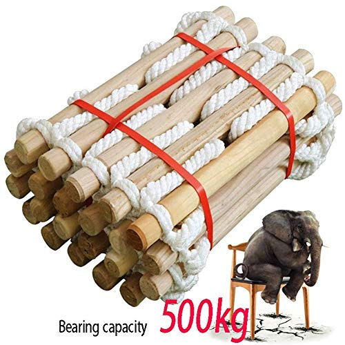 YXIAOL grote Rung hardhout Touw Ladder Swing Hang Meter Hoge Ideaal Voor Klimmen Frame Boom Huis Den Play Huis