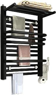 GFFTYX Toallero Eléctrico, Calentadores de Toallas radiador toallero baño Estante a Prueba de Humedad 220V (Color : Black, Size : 600 x 440 x 205mm)