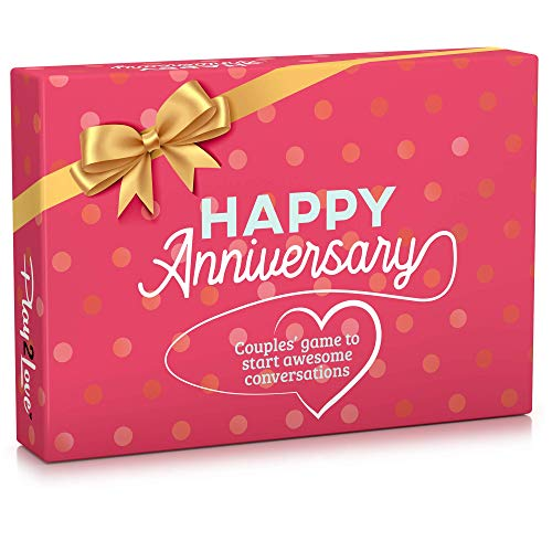 Happy Anniversary Couples Game to Start Awesome Conversations 100+ Cards Gifts for Husband and Wife Him and Her