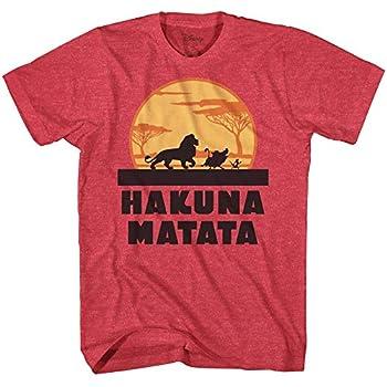 Disney Lion King Hakuna Matata Pumbaa Timon Africa Simba Mufasa Disneyland World Tee Adult Graphic T-Shirt Apparel  XX-Large Red Heather