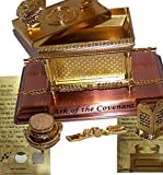 Holy Land Market The Ark of The Covenant Gold Plated (Medium, Ark and Contents)