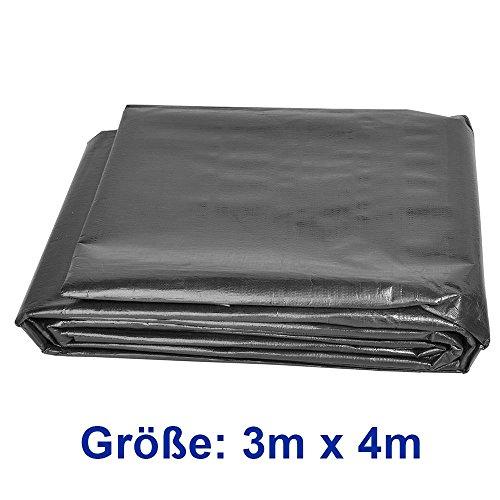 Premium PE Teichfolie 3m x 4m = 12qm Schwarz für Gartenteich;0,3 mm Stärke, UV-Beständig, reißfest, umweltfreundlich - 5