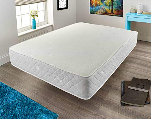 Mattress-Haven Quality Sprung Mattress with Memory Foam Top - Bonnell Springs, Orthopaedic Comfort,4FT6 - Double Mattress