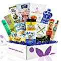 PALEO Diet Snacks Gift Basket: Mix of Whole Foods Protein Bars, Grain Free Granola, Cookies, Jerky Meat Sticks, Fruit & Nut Snacks Sampler Box