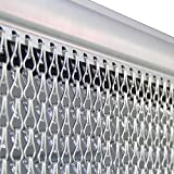 Alondy fly blind screen persianas cortinas de cadena para puertas, astillas de aluminio cortinas de cadena metal screen, 90 * 210cm, stop flies wasps pest insect & bees from entering
