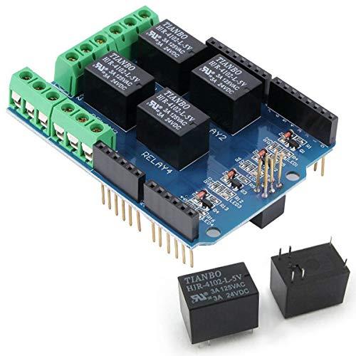 Youmile 4 Kanal 5V Relais Shield Modul für Arduino UNO R3 Relais Shield Interface 4 4 Kanal Für PIC AVR DSP ARM MCU Arduino UNO R3