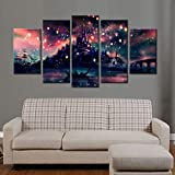 ZEMER 5 Panels Wand Kunst Harry Potter Hogwarts Schloss