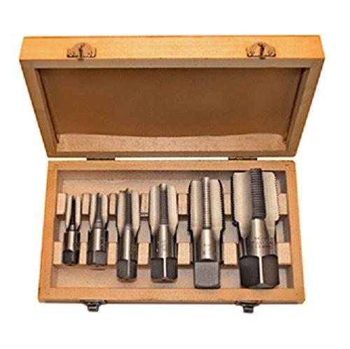 Alfa Tools TDS66006NPT 6 Pc Carbon Steel Npt Pipe Tap Set,