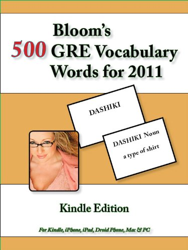 Bloom's 500 GRE Vocabulary Words: Kindle Edition (English Edition)