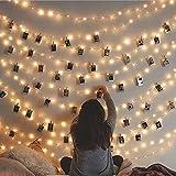 LED 30 - 3 Meter Long - 10 Heart Photo Clips 30 LED Warm White Powered USB