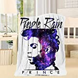 Cdsfud Prince Musician P-u-rple R-ai-n Throw Blankets, 3D Printing Artwork Super Soft Fluffy Warm Solid for Bed Sofa Microfiber Blanket