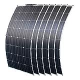 6 pezzi 100W Pannello Solare Fotovoltaico Monocristallino 600W Modulo...