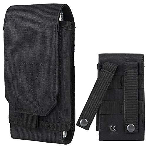 Shidan 1000D Nylon Molle Tactique Téléphone Portable Smartphone Pouch Belt Holster Coque pour iPhone X/8P/8/7P/7/6P/6, Samsung Note8/5, Galaxy S9+/S9/S8+/S8/S7/S6