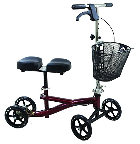 Read About Knee Scooter with 8-Hole Stem, Burgundy