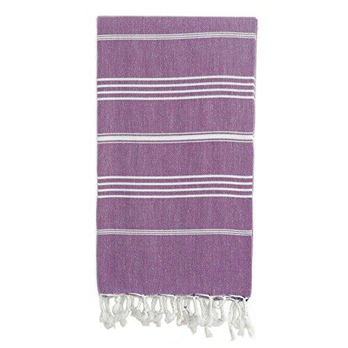 Linum Home Textiles Lucky Fouta/Serviette Fouta, Violet, None