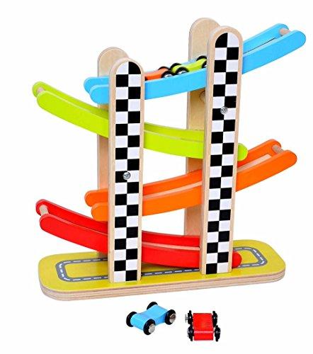 Tooky jouet Tkb124 Slope Tour jouet en bois, Multicolore, 28 x 10 x 28 cm - version anglaise