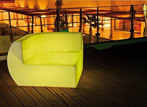 Gowe LED côté lumineux Canapé d'angle Canapé d'angle d'éclairage à distance Controll Décoration de votre Salon, chambre, jardin, piscine, terrasse, etc.