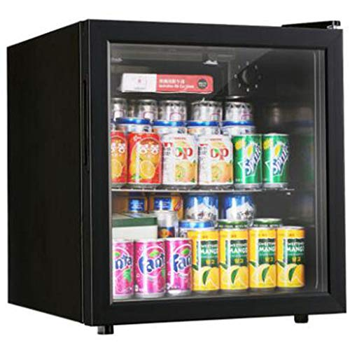 Best Buy! Beverage Refrigerator and Cooler Mini Fridge with Glass Door, Cools Down to 34 Degrees Perfect for Beer Wine or Sod, Black