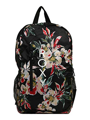 Roxy Womens Fresh AIR Packable Backpack, Anthracite Wonder Garden S, Medium