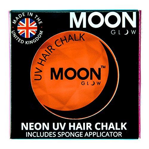 Moon Glow -Neon-UV-Haarkreide3.5gOrange–ein spektakulär glühender Effekt bei UV- und Schwarzlicht!