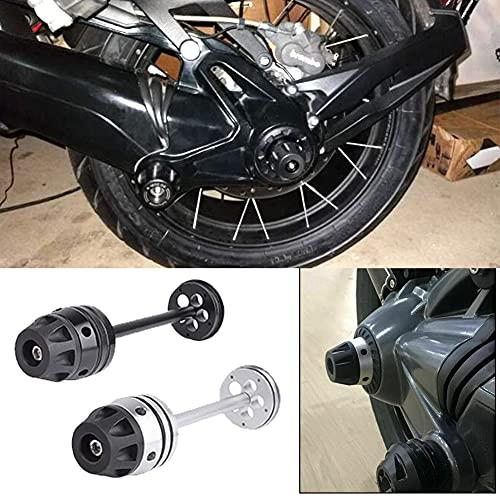 XX eCommerce Motorrad R1250GS hinten Refit Rad Gabel Achse Sliders Cap Pad Crash Protector for B-M-W R1200GS 2007-2012 RnineT 2014-2018 (Schwarz)