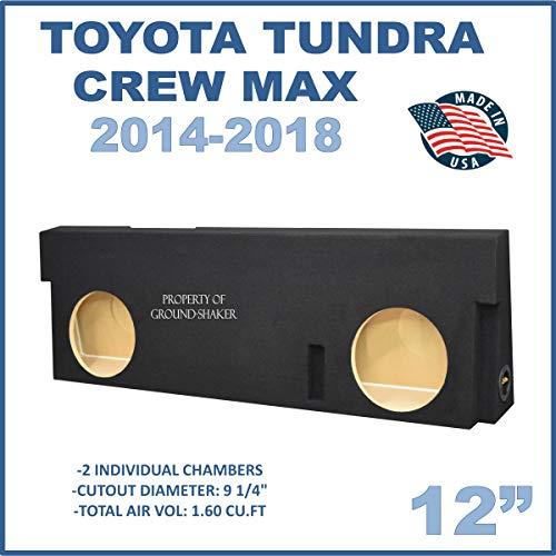 "Fits Toyota Tundra Crew-Max 2014-2018 12"" Dual Sealed Subwoofer Enclosure"
