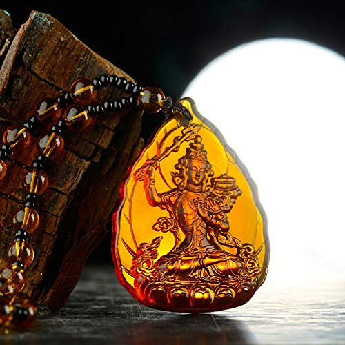LXMYLI [[[[[Mascota Seguridad Dinero Amuleto Verde Tara Medicina Buda Amitabha Buda Cristal Colgante Buda Collar Amuleto]],Null,en]]]