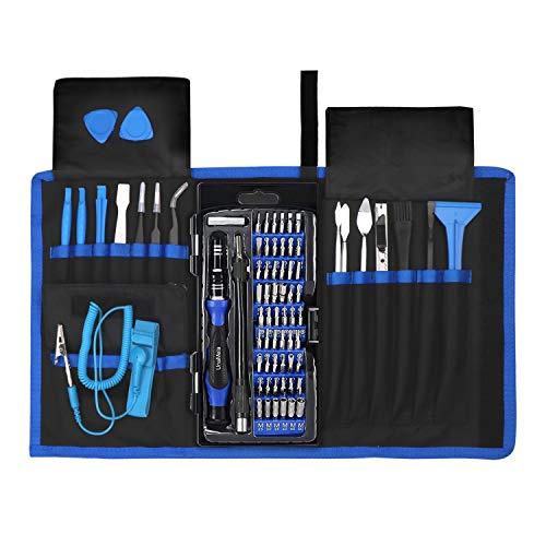 72 Piece Stainless Steel S2 Screwdriver Tweezer Set fits iPhone7,8,x,XS,Samsung