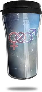 Mug Stainless Steel Bisexual Symbol Travel Tumbler Small Travel Mug Sport Bottle Cup 8.5 Oz