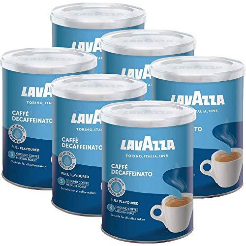 Lavazza DEK Kaffee, Decaffeinato, gemahlen in Dose (6 x 250g)