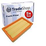 5x Trade-Shop Flachfalten-Filter Lamellenfilter Ersatz für Dewalt D279015-XJ D279015 Bosch 2 607 432 034 2607432033 Flex 337.692
