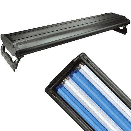 WavePoint 48-Inch 216-Watt 4 Bulb High Output T-5 Lighting System, Black