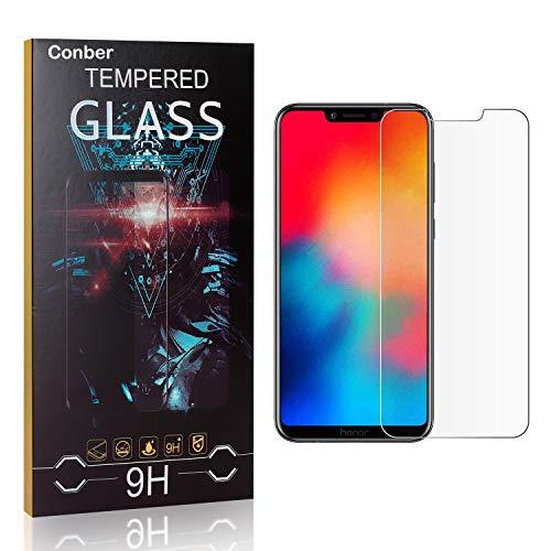 Conber [4 Stück] Displayschutzfolie kompatibel mit Huawei Honor Play, Panzerglas Schutzfolie für Huawei Honor Play [9H Härte][Hüllenfreundlich]