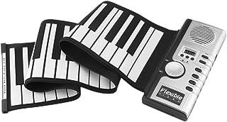 TATUE-Electronic Organ - 61 Keys 128 Tones Roll Up Electronic Piano Keyboard Portable Digital Keyboard Piano Flexible Rech...