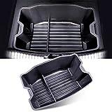 YEE PIN Benutzerdefiniert für Tesla Model 3 Kofferraum Aufbewahrungsbox Kofferraumfinisher PVC Robust Auto Zubehör
