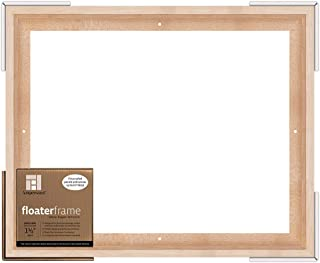12x16 Inch Ampersand Floaterframe for Wood Panels Bold Maple 1.5 Inch Depth FBOLD151216M