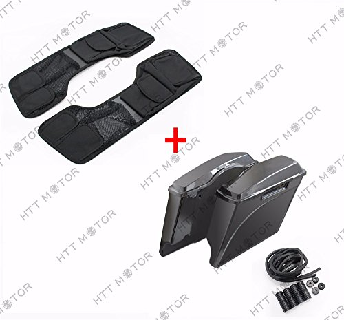 Fantastic Prices! SMT- 4 Stretched Unpainted Saddlebags & Lid Organizer Set Compatible With 94-13 H...