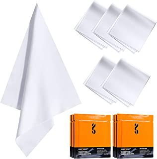K&F Concept Import Microfiber Cleaning Cloths, 6-Pack Vacuum Wrapped for Camera Lens/Eyeglasses/iPhones/Computers/iPad/LED Screens/Electronics/Precision Instrument