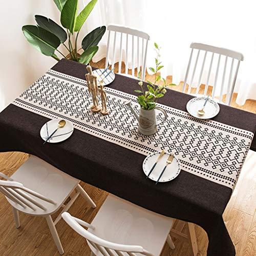 Couverture de table carrée anti-poussière moderne de simplicité de nappe nordique de nappe pour la décoration de table de décoration parties d'intérieur ou extérieures, utilisation quotidienne