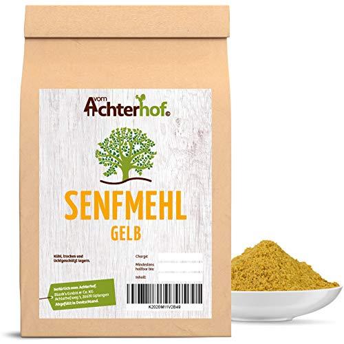 1 kg Senfmehl Senfsaat gelb gemahlen , teilentölt zur Senfherstellung Senfpulver vom-Achterhof