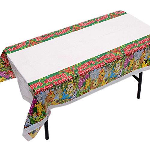 aheadad - Mantel desechable para fiesta de cumpleaños, 180 108 cm, diseño de banda de dibujo, parte de barra