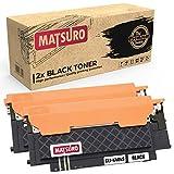 Matsuro Original | Kompatibel Tonerkartusche Ersatz für Samsung CLT-K404S CLT-C404S CLT-M404S CLT-Y404S (2 SCHWARZ)