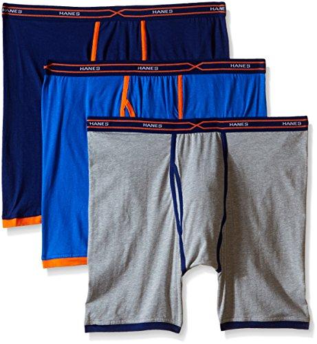 Price comparison product image Hanes Men's 3-Pack X-Temp Active Cool Long Leg Boxer Brief,  Assorted,  Medium