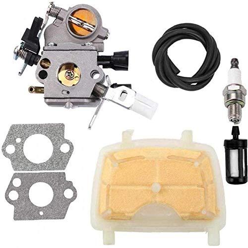 Nicejoy Carburador C1q-s121c con Filtro de Aire para Stihl Ms171 Ms181 Ms211 Ms 181 171 211 Filtro Spark Plug Gas Combustible Motosierra 1139 120 1602 de Parte de reemplazo para el hogar