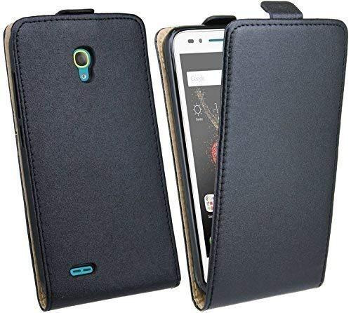 cofi1453® Flip kompatibel mit ALCATEL ONE Touch GO Play (7048X) // Klapptasche Schutztasche Zubehör Flip-Cover in Schwarz Tasche Hülle