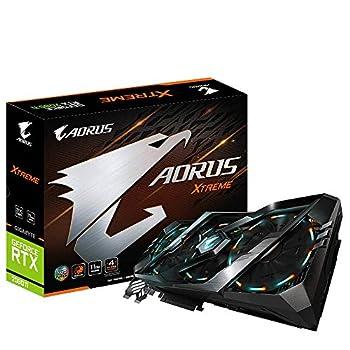 Gigabyte AORUS GeForce RTX 2080 Ti Xtreme 11G Graphics Card 3X Stacked Windforce Fans 11GB 352-bit GDDR6 Gv-N208TAORUS X -11GC Video Card
