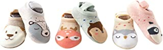 STOBOK, Calcetines para bebés Antideslizantes Piso de la habitación cálidos Tobillos Antideslizantes Calcetines de algodón para niños pequeños niños niños - 5 Pares