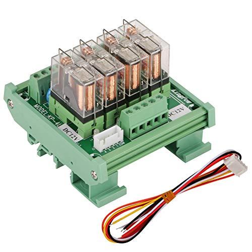 Relé de 4 canales, carcasa de PCB, doble capa de cobre, LED compatible con módulo de relé PNP/NPN para vehículos automotores, automóviles, equipos de iluminación para barcos marinos