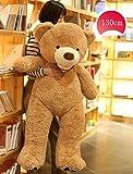 AMIRA TOYS ぬいぐるみ 特大 クマ くま テディベア クリスマス 大きい 動物 ぬいぐるみ 抱き枕 キャラクター INS人気 お誕生日プレゼント インテリア 熊縫い包み 置物 店飾り 3色選択 130cm(ブラウン)の写真